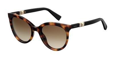 max-mara-plastic-oval-sunglasses-54-0086-dark-havana-ha-brown-gradient-lens