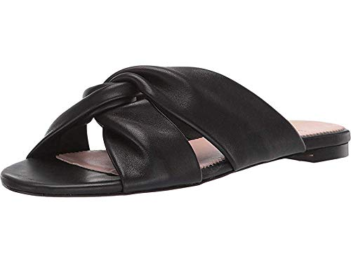 - J.Crew Women's Knotted Soft Leather Sandal Black 9 B US