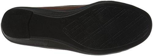 Easy Street Women's Mali Flat Tan/Patent 28PgD3zF