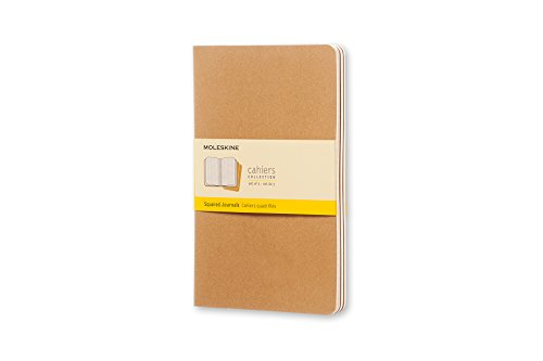 Moleskine Cahier Soft Cover Journal, Set of 3, Squared, Large (5