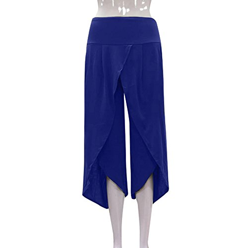 TIMEMEANS New Women Casual PrettyLayered Wide Leg Pants Ladies Outdoor Home Daily Flowy High Waist Pants by TIMEMEANS (Image #2)