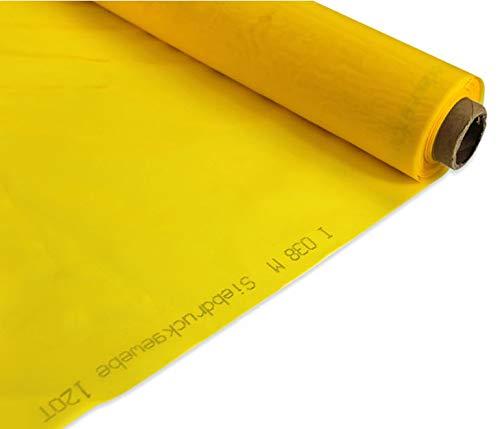 3 Yards Screen Printing Mesh Fabric 200 Mesh(80T) Silk Stencil Printing Yellow color (Item #007210*3) TechTongda