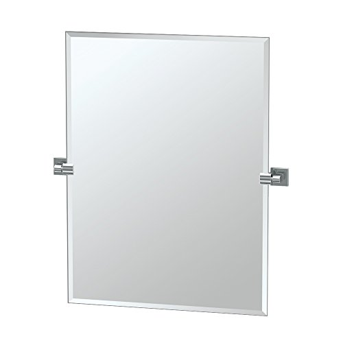Gatco 4059S Elevate Frameless Rectangle Mirror, Chrome, - Tilt Bathroom Rectangle Mirrors
