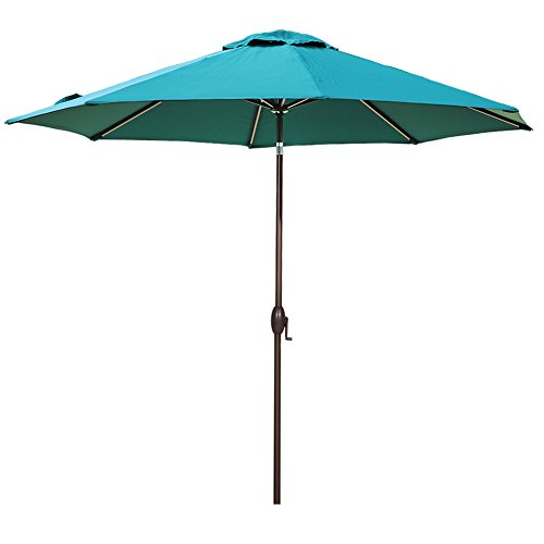 Abba Patio 11-Feet Patio Umbrella Outdoor Table Umbrella with Push Button Tilt and Crank, Dark Green