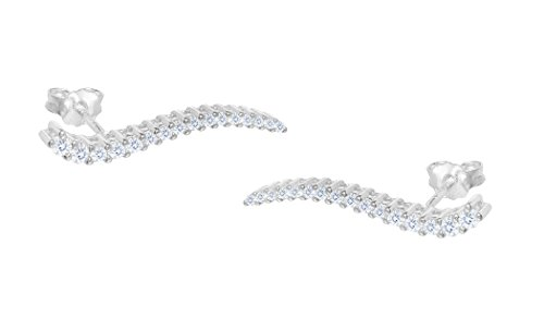 NYC Sterling Sterling Silver Climber Crawler Earrings (sterling-silver) by NYC Sterling