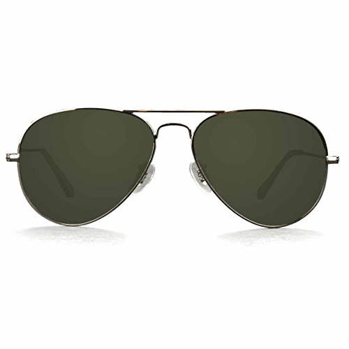Metal Framed Green Polarized Lenses Aviator Olympia - Olympia Glasses