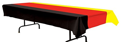 Beistle 57940-BKRY German Table Cover, 54 by 108-Inch -