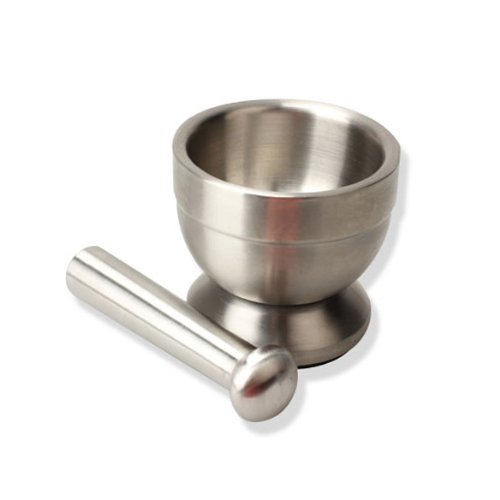 Dealglad® Stainless Steel Mortar Pestle Set for Crushing Spices, Herbs, Pills and etc Pharmacy Kitchen Tools DealgladUK