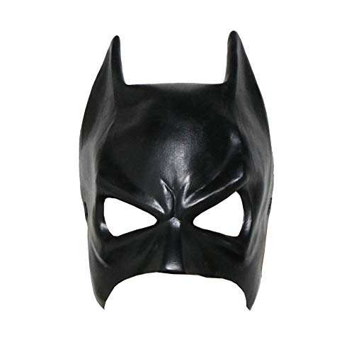 CoserWorld Realistic Halloween Half Face Latex Batman Mask Costume Superhero The Dark Knight Rises Black -