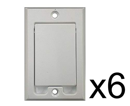 kungfudigital (6) Central Vacuum Square Door Inlet Wall Plate White for Nutone Beam VacuFlow