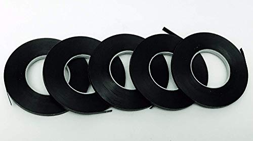 5 Pack Graphic Chart Tape Black Matte 1/8