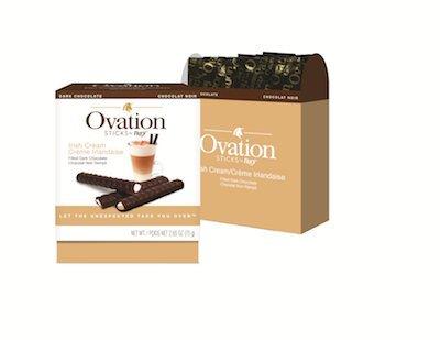 Ovation Dark Chocolate Irish Cream Flavor Sticks Gourmet Candy
