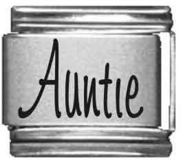 Auntie Laser Italian Charm -