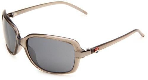 I SKI Humboldt Rectangular Sunglasses,Crystal Dark Gray Frame/Smoke & Flash Mirror Lens,One Size