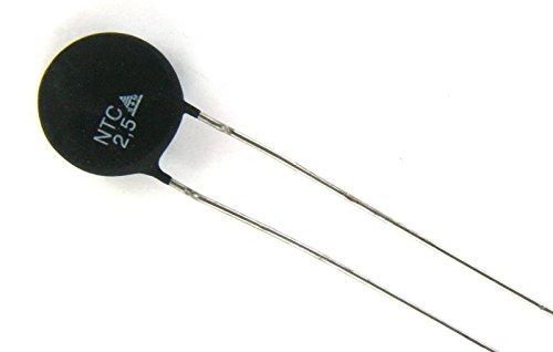 4pcs Epcos Inrush Current Limiter Power Thermistor 2.5ohms 5.5Amp 10mm 2.5D10 ()