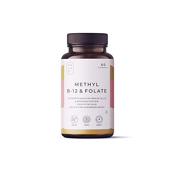 Palak Notes: Vitamin B12 (Methylcobalamin) 1500 mcg + Folate (Methylfolate) 400 mcg+ Vitamin B6 - ENERGY- BRAIN - HEART