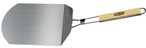 Man Law BBQ Products Man-PP1 Series Foldable Pizza Peel, One Size, Aluminium/Stainless Steel and Wood
