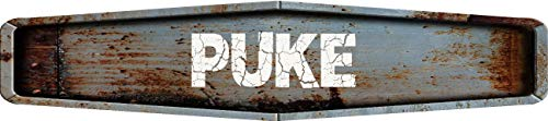 Shaped Diamond Sign - Any and All Graphics Puke Rustic Weathered Metal Look Diamond Shaped 4
