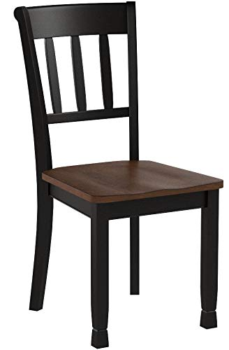 Ashley Furniture Signature Design - Owingsville Dining Room Side Chair - Latter Back - Set of 2 - Black-Brown by Signature Design by Ashley (Image #11)