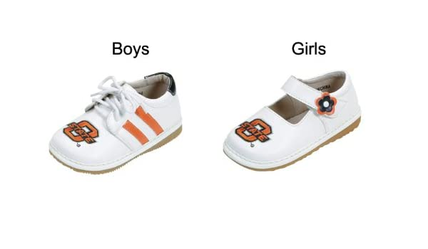 cce2c2957 Amazon.com  Squeak Me Shoes 4471 Boys  University of Oklahoma Sneaker Size   4 (Toddler)