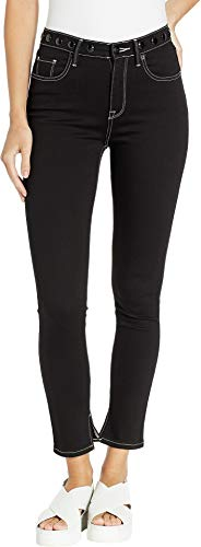Juicy Couture Women's Black Denim Skinny Jeans w/Embroidered Waistband Vosges Wash 26 27 ()