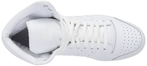 Scarpa Da Basket Adidas Original Mens Top Ten Hi Bianco / Bianco / Bianco