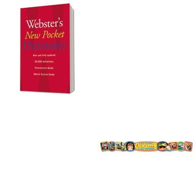KITHOU1019934TEPT25046 - Value Kit - Trend Quotable Expressions Wall Banner (TEPT25046) and HOUGHTON MIFFLIN COMPANY Webster's New Pocket Dictionary ()