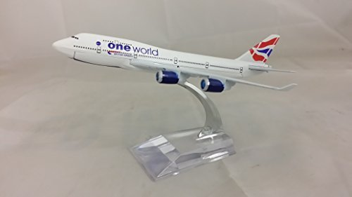 Qatar Airlines (Die-Cast Model Plane , Boeing 747, 16CM (1 : 400 Scale Model) Lots of Airlines to Choose From (BA, Thai, Qatar, Saudi, UPS) (British Airways) by)