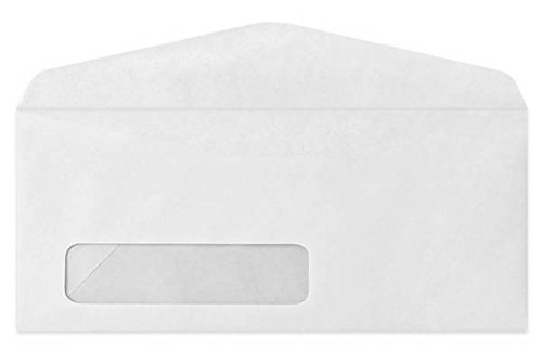 Gummed left window white 10 envelope size 4 1 8 x 9 1 2 for 10 window envelope size