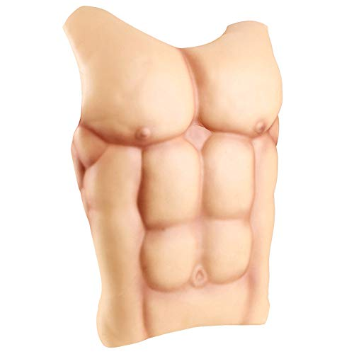 Zicac Fake Muscle Chritmas Props Cosplay Makeup Halloween Costume Funny Chest (Skin -