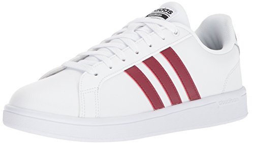 adidas Men's CF Advantage Shoes,White/Collegiate Burgundy/Core Black,14 Medium US