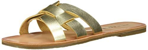 Rock & Candy Women's DHIRA Flat Sandal, Gold, 9 Medium US ()