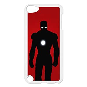 iPod Touch 5 Case White IronMan Silouhette VIU078875