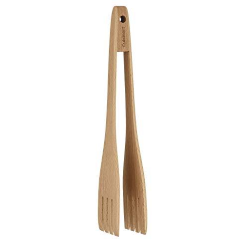 Cuisinart CTG-BEW-TNG beechwood tongs, One Size, Brown (Cuisinart Wooden Spoons)
