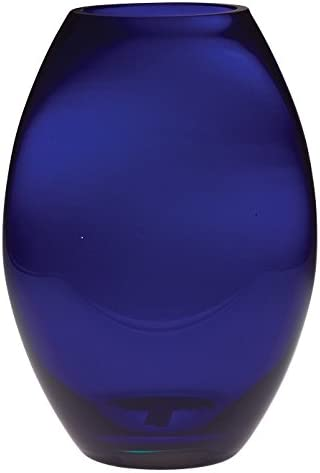 Glass Glass 10 Majestic Gifts European Handmade Barrel Vase, Large, Cobalt Blue