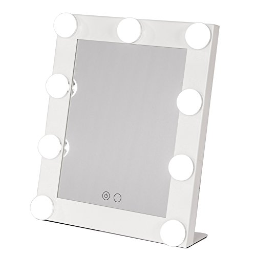 Joyful Store Lighted Makeup Mirror Hollywood Makeup Vanity Mirror With Dimmer Stage Beauty Mirror 25X7x29cm 10X 2 7X 11 5  White