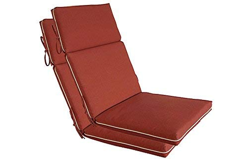 BOSSIMA Indoor Outdoor High Back Chair Cushions Replacement Patio Chair Seat Cushions Set of 2 Brick Red
