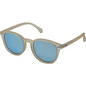 Le Specs Women's Bandwagon Sunglasses, Raw Sugar/Ice Blue Revo Mirror, One Size