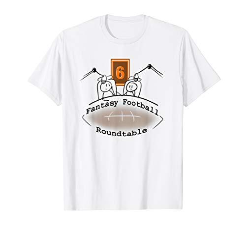 Fantasy Football Roundtable Podcast Show Logo Tshirt