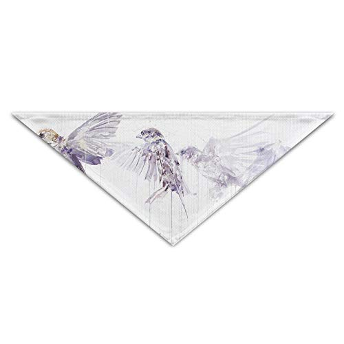 ALLMYHOMEDECOR Dog Bandanas Scarfs Sparrow Birds Movement Art Triangle Bibs Scarves Cute Basic Dogs Kerchief Costume Accessory Pet Neckerchief Cat Collars Holiday Birthday Gift]()