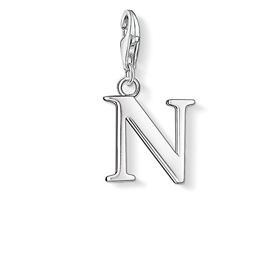"""Thomas Sabo Letter """"N"""" Charm, Sterling Silver"""