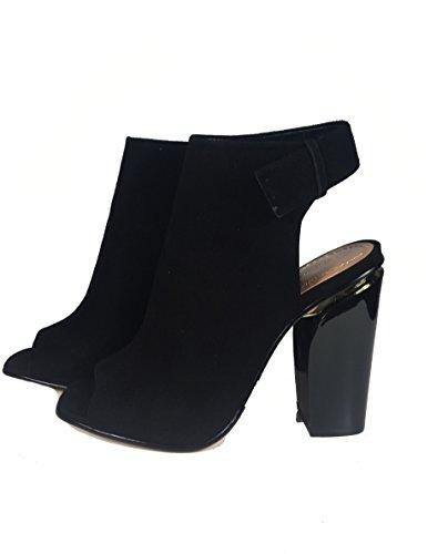 ... Zara Damen Slingback lederknüppelstiefel 1109/201