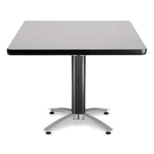 OFM KMT42SQ-GRYNB Multi-Purpose Square Table with Metal Mesh Base, 42