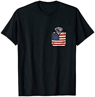 Great Dane in Pocket shirt American Flag 4th of July T-shirt | Size S - 5XL