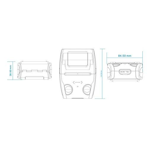 Studyset Portable Mini Printer Wireless Bluetooth Rapid Direct Thermal Label Small Ticket Printer by Studyset (Image #5)