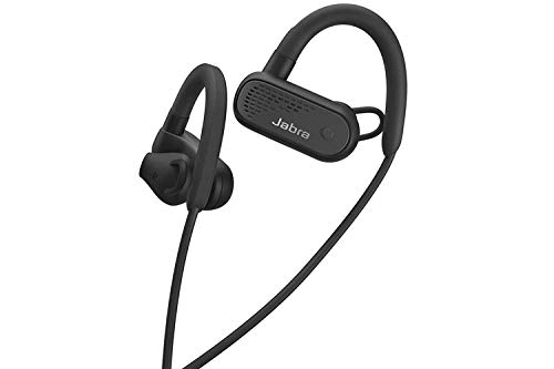 Jabra Elite Active 45e Wireless Sports Earbuds, Black – Alexa Enabled Wireless Bluetooth Earbuds, Around-The-Neck Style with a Secure Fit and Superior Sound, Long Battery Life, Ideal for Running