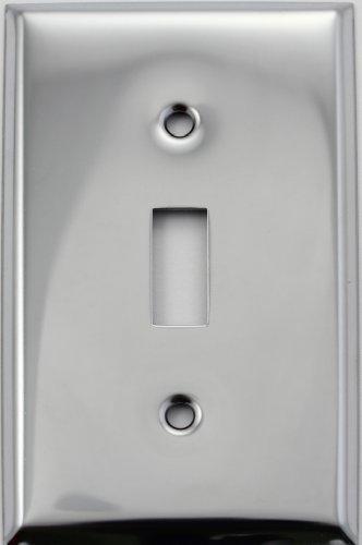 Polished Toggle - Polished Chrome Single 1 Gang Toggle Switch Wall Plate