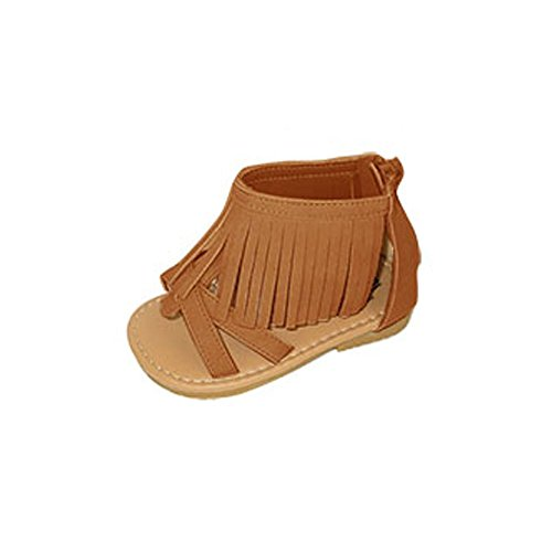 bebe-toddler-girls-ankle-cuff-fringe-sandals-with-back-zipper-7-8-cognac