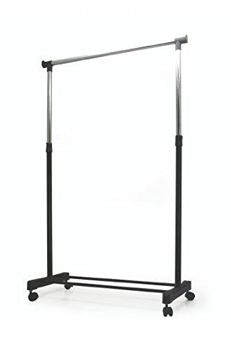Galileo Casa 2166944 Perchero, Metal, Silver/Negro, 43 x 88 x 100 cm