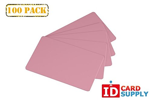 Pack of 100 Pink CR80 PVC Cards | 30 mil by easyIDea by easyIDea